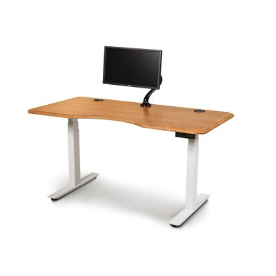 "Invigo Desk Copeland Furniture Color (Top/Frame): Seared Ash/Black, Size: 30"" H x 72"" W"