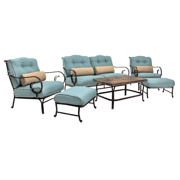 Ashleigh 6 Piece Sofa Seating Group with Cushions by Sol 72 Outdoor
