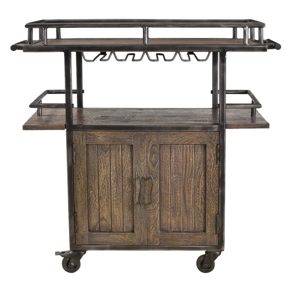 Hessler 2 Door Wheel Wine Bar Cabinet by Loon Peak