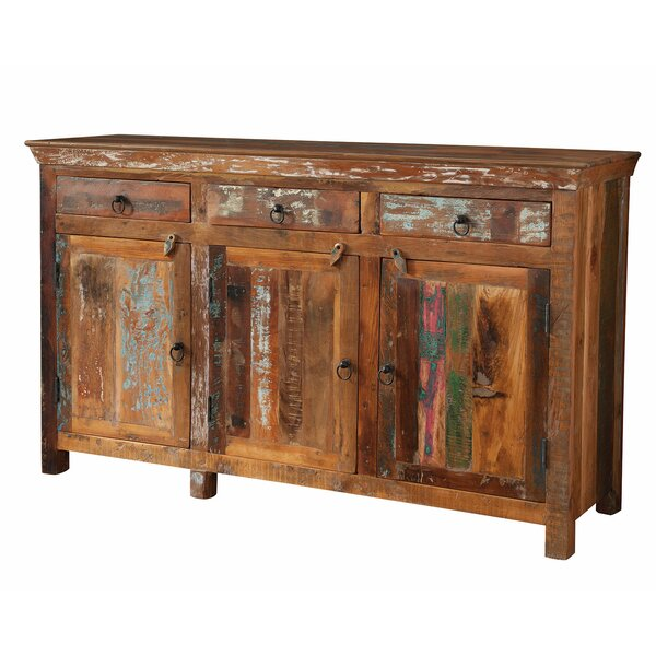 Petit Borendy Reclaimed Wood 3 Drawer 3 Door Accent Cabinet by Bloomsbury Market
