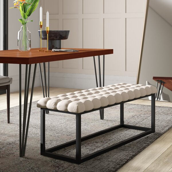 Gorney Upholstered Bench by Mercury Row
