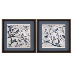 Morning Song 2 Piece Framed Painting Print Set by Three Posts