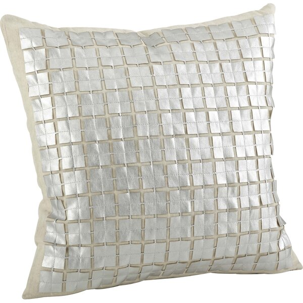 Lissandra Cutwork Cotton Throw Pillow by Saro
