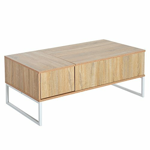 Modern Lift Top Coffee Table with Storage by HomCom