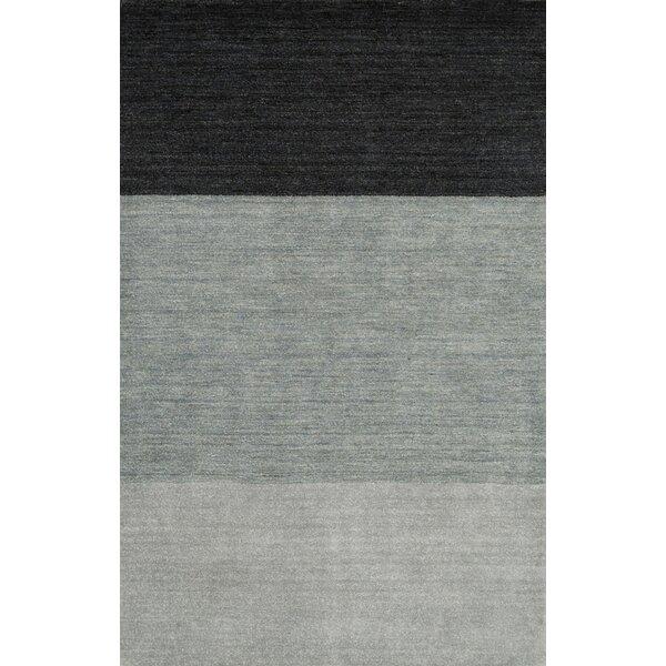Hawkinson Hand Woven Wool Blue Area Rug by Ebern Designs