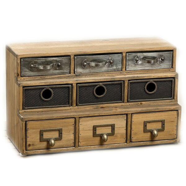 Streetsboro Industrial Reclaimed 9 Drawer Accent Chest by Bungalow Rose