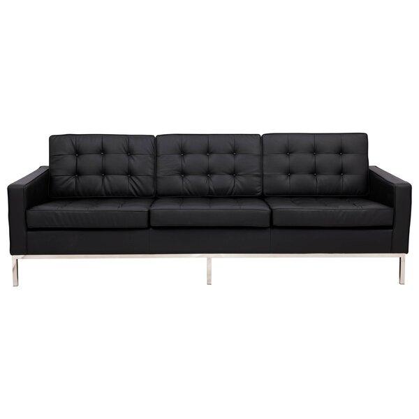 Gibney Leather Sofa by Orren Ellis