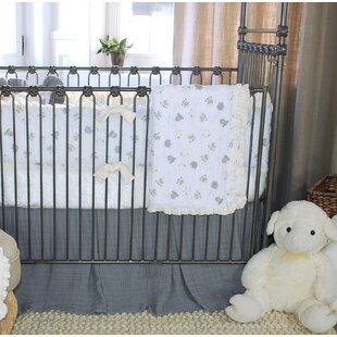 Inexpensive Lambie Tales 100% Cotton Crib Skirt ByBlueberrie Kids