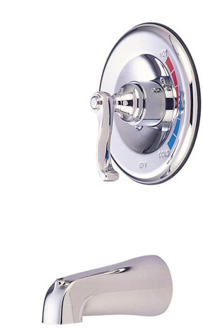 Atlanta Single Handle Wall Mount Faucet French Lever Handle by Elements of Design