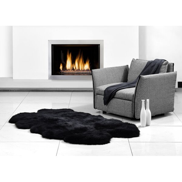 Four Pelt Black Area Rug by Fibre by Auskin