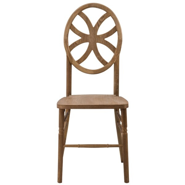 Reyna Clover Solid Wood Dining Chair by Mistana