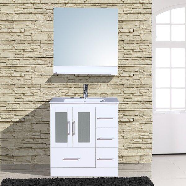 Alva 30  Single Bathroom Vanity with Mirror by Adornus