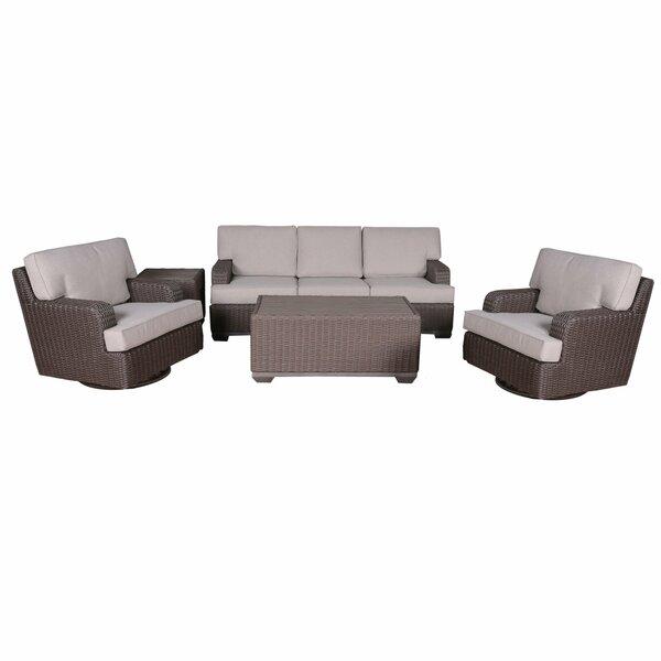 Simge 5 Piece Sofa Seating Group with Cushions by Latitude Run