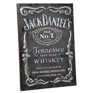 Jack Daniel's Label Graphic Art Plaque by Jack Daniel's Lifestyle Products