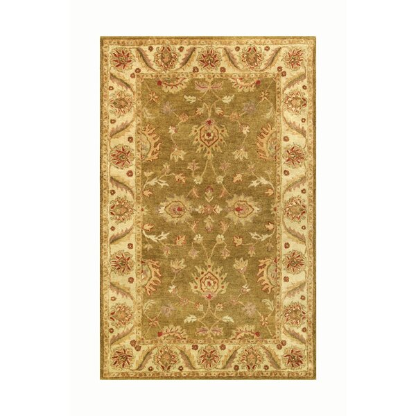 Golden Green/Gold Area Rug by Noble House
