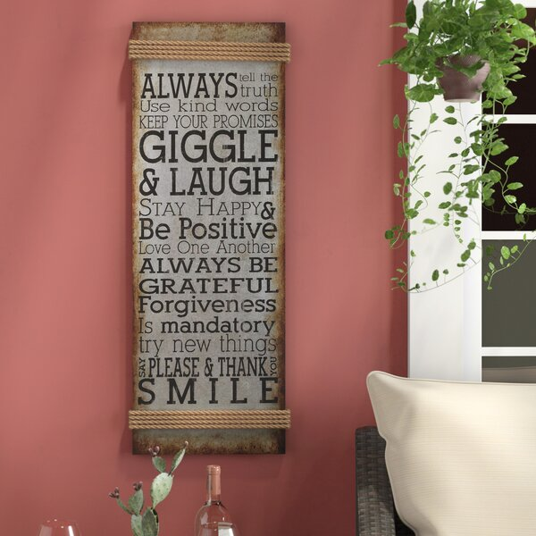 Metal Rope Wall Sign Wall Décor by Red Barrel Studio
