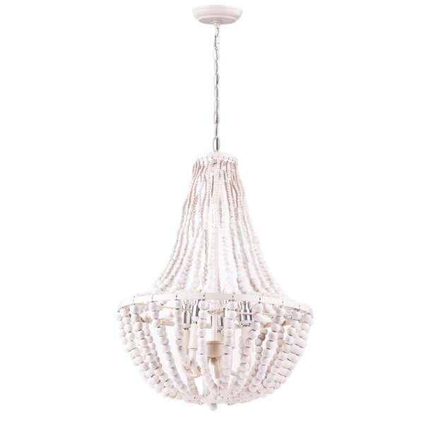 Antiona 5 - Light Candle Style Empire Chandelier with Beaded Accents by Bloomsbury Market Bloomsbury Market