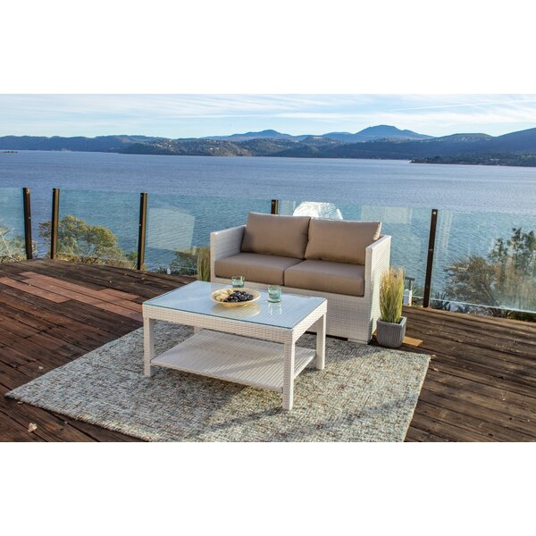 Beulah 2 Piece Sofa Seating Group with Sunbrella Cushions by Highland Dunes