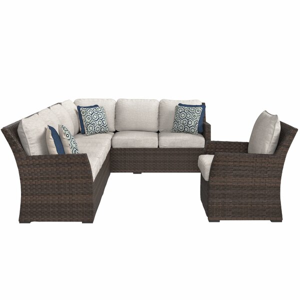 Tequesta Patio Sectional with Cushions by Bay Isle