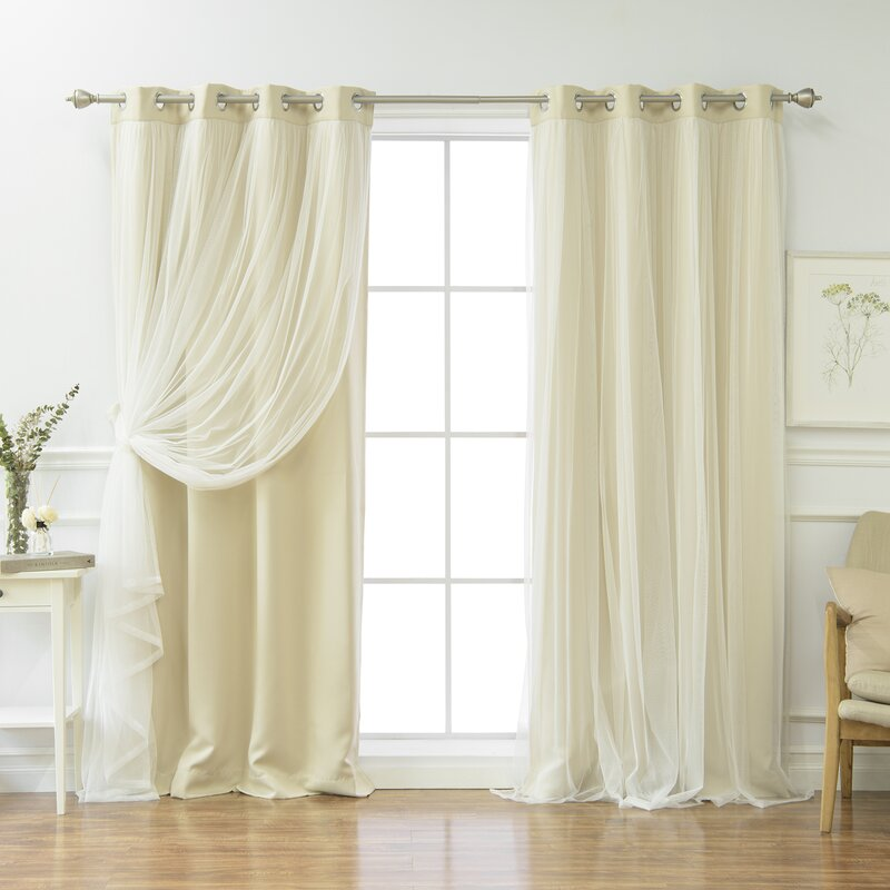 Brockham Solid Blackout Thermal Grommet Curtain Panel Pair