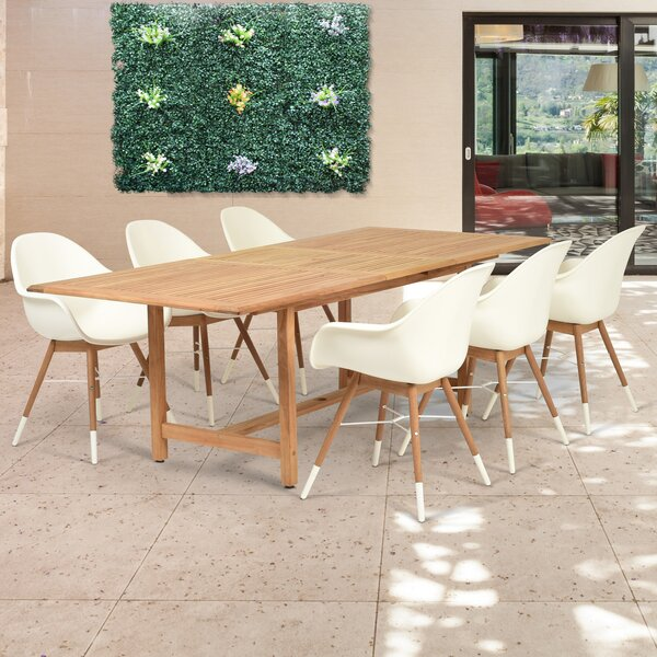 Cossette 7 Piece Teak Dining Set by Corrigan Studio