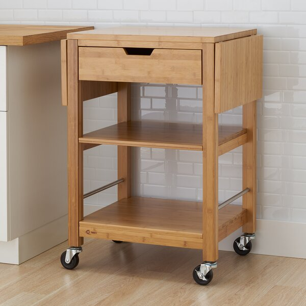 Wenlock Bamboo Kitchen Cart by Alcott Hill
