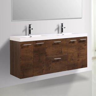 Ophir 72 Wall-Mounted Double Bathroom Vanity ByOrren Ellis