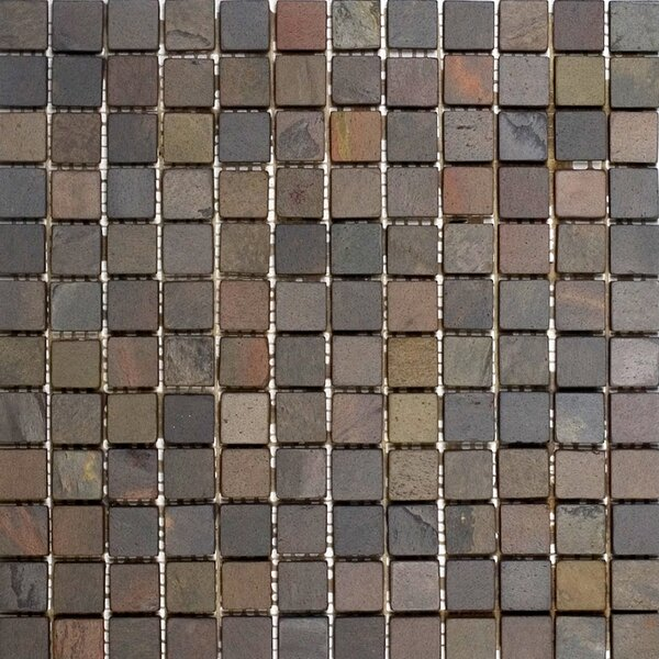 1 x 1 Slate Mosaic Tile in Indian Rain by Epoch Architectural Surfaces