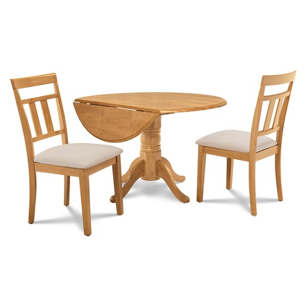 Chesterton 3 Piece Solid Wood Dining Set by Alcott Hill Alcott Hill