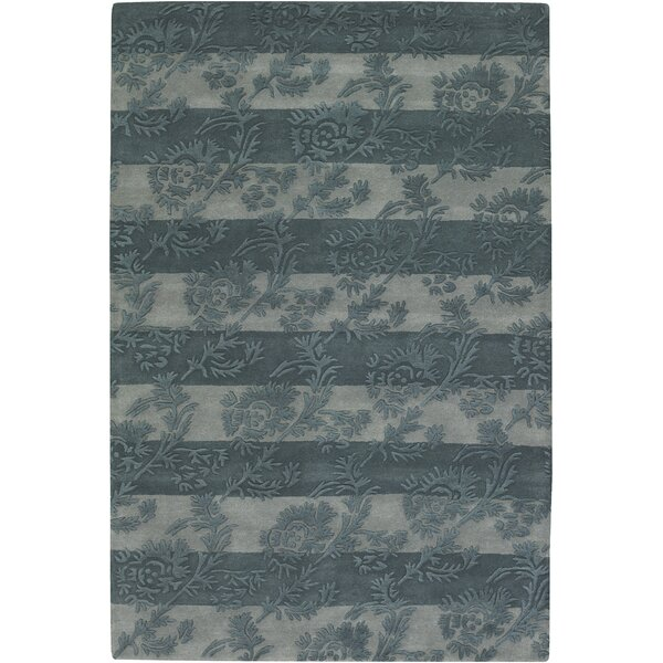 Boise Olive/Light Gray Floral Stripe Area Rug by Darby Home Co