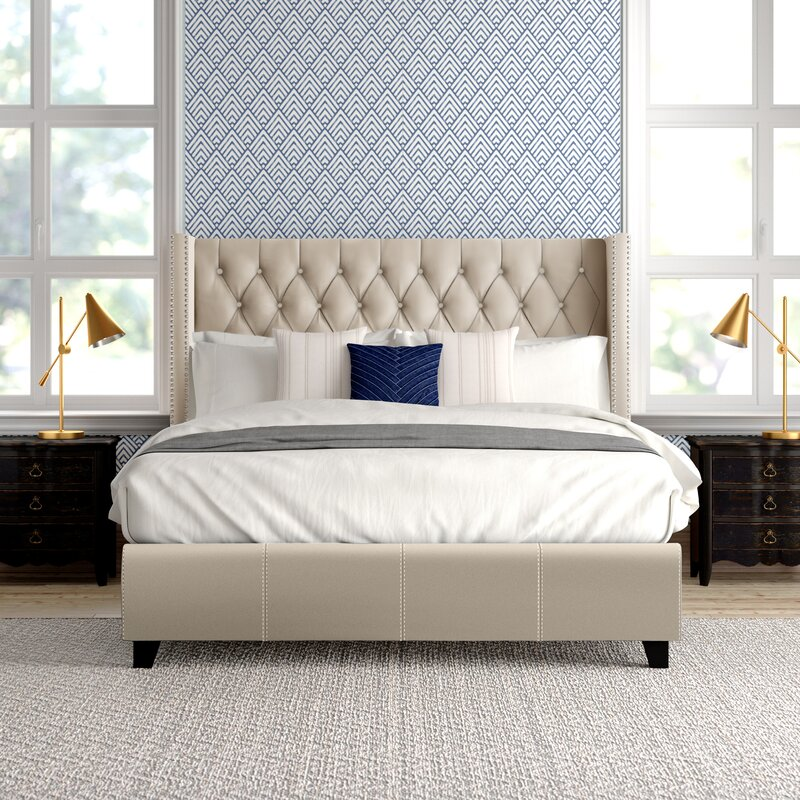 Dallas Upholstered Platform Bed Reviews Joss Main
