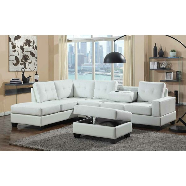 Uecker Reversible Sectional with Ottoman by Red Barrel Studio