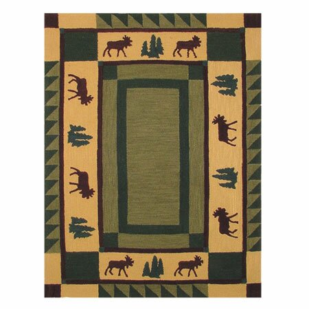 Cedar Moss / Tan Area Rug by Patch Magic