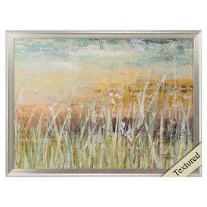Muted Grass Framed Painting Print by Propac Images