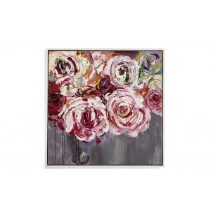 'White Peonies in Pink' Framed Print on Canvas by Rosdorf Park