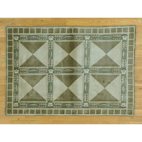 One-of-a-Kind Beverly Neo Classic Design Handwoven Wool Area Rug by Isabelline
