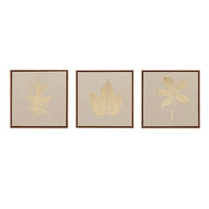 'Golden Harvest' 3 Piece Framed Graphic Art on Wrapped Canvas Set by Gracie Oaks