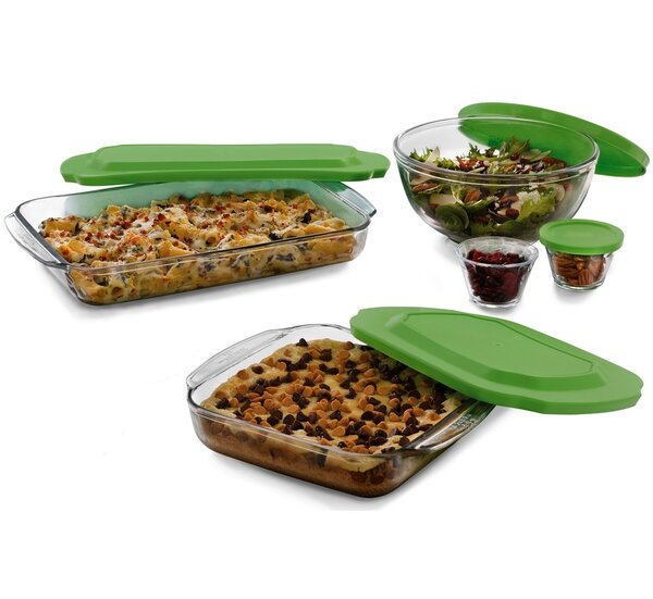 7 Piece Baking Dish Set with Lid by Libbey