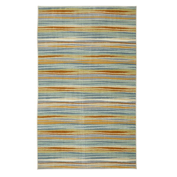 Centerville Machine Woven Blue/Cream Area Rug by George Oliver
