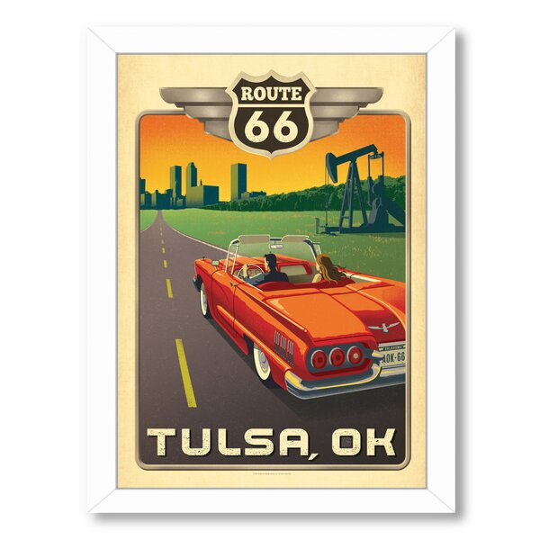 Tulsa Route 66 Framed Vintage Advertisement by East Urban Home