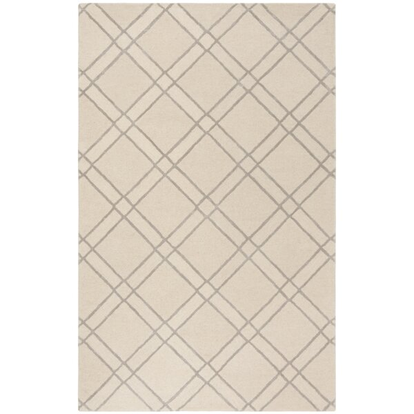 Dirks Hand-Tufted Wool Ivoryr Area Rug by Charlton Home