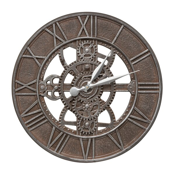 21 Gear Indoor/Outdoor Wall Clock by Whitehall Products
