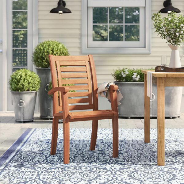 Roseland Patio Dining Chair by Beachcrest Home