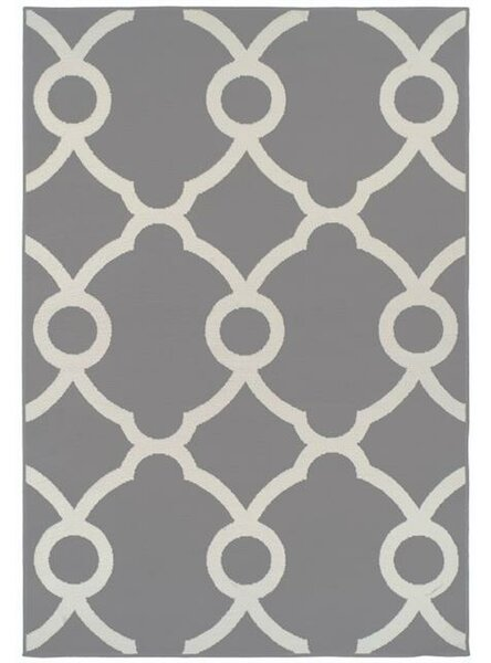 Brookdale Modern Moroccan White/Gray Indoor/Outdoor Area Rug by House of Hampton