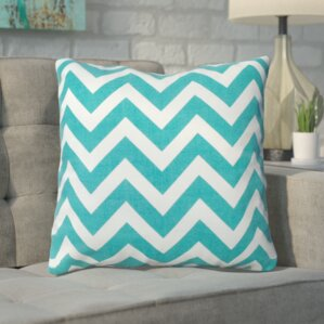 bollin chevron 100 cotton throw pillow