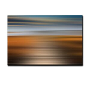 'Blur Stripes XIV' Graphic Art on Canvas by Ready2hangart