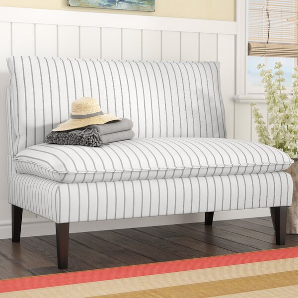 Jessica Pillow Back Upholstered Bench by Longshore Tides