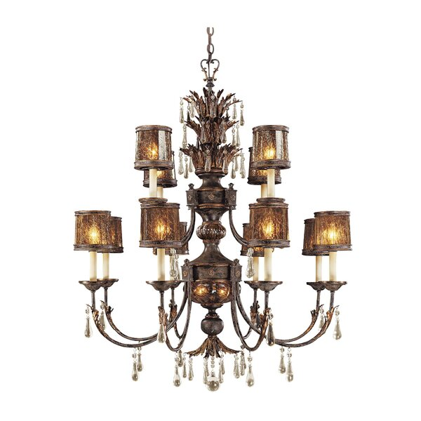 Sanguesa 14-Light Candle Style Tiered Chandelier By Metropolitan By Minka