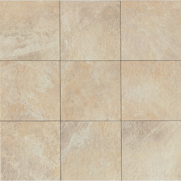 Rok 13 x 13 Porcelain Field Tile in Almond by Bedrosians
