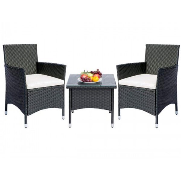 Vaughnsville 3 Piece Seating Group with Cushions by Wrought Studio